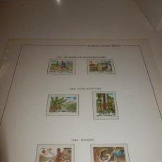 Sellos: SELLO - GUINEA ECUATORIAL - EDIFIL Nº 45, 46, 47, 48, 49 Y 50 - MONTADOS EN HOJA FILOESTUCHES - 1983. Lote 82242552