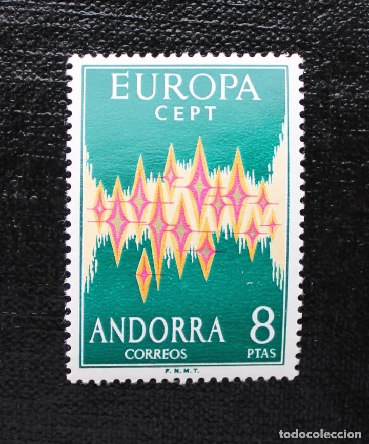 ANDORRA 1972, EDIFIL 72, EUROPA CEPT, NUEVO SIN FIJASELLOS ** (Sellos - España - Dependencias Postales - Andorra Española)