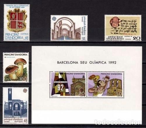 ANDORRA ESPAÑOLA 1987 - AÑO COMPLETO (Sellos - España - Dependencias Postales - Andorra Española)