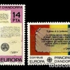 Sellos: ANDORRA ESPAÑOLA 1982 - EUROPA CEPT - EDIFIL Nº 157-158. Lote 171402678
