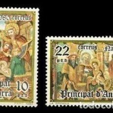 Sellos: ANDORRA ESPAÑOLA 1980 - NAVIDAD - EDIFIL Nº 138-139. Lote 171402703
