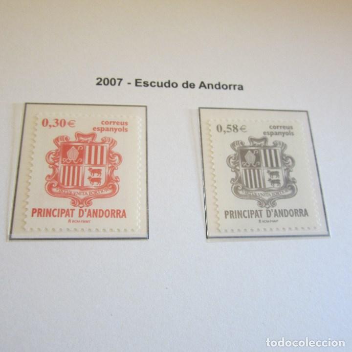 ANDORRA ESPAÑOLA 2007, ESCUDO DE ANDORRA (Sellos - España - Dependencias Postales - Andorra Española)