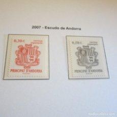 Sellos: ANDORRA ESPAÑOLA 2007, ESCUDO DE ANDORRA. Lote 90178112