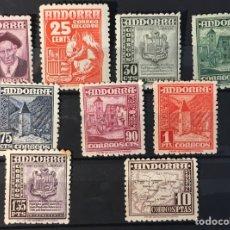 Sellos: ANDORRA 1948/53. TIPOS DIVERSOS. DIFERENTES DE LA SERIE PERO NO COMPLETA. Lote 94589971
