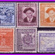 Sellos: ANDORRA 1948 TIPOS DIVERSOS, EDIFIL Nº 45 A 58 * COMPLETA, 57 (O) . Lote 95211479