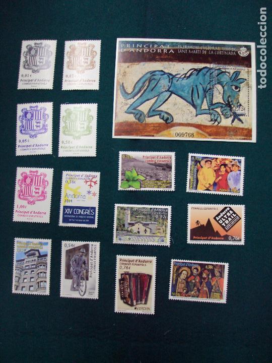 ANDORRA ESPAÑOLA 2014 AÑO COMPLETO NUEVO (Sellos - España - Dependencias Postales - Andorra Española)