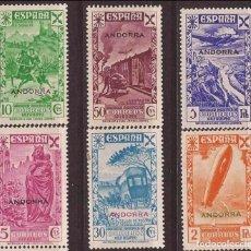 Sellos: ANDORRA ESPAÑOLA BENEFICENCIA * 1/6 - AÑO 1938 COMPLETA. Lote 98167175
