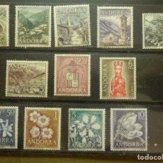 Sellos: SELLO - ANDORRA - LOTE DE 12 - 1963, 1964 Y 1966 - EDIFIL 60,61,62,63,64,65,66,67,68,69,70 Y 71. Lote 99196751