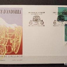 Selos: SOBRE PRIMER DIA ANDORRA ESPAÑOLA. MUSEOS DE ANDORRA. 29 DE ENERO DE 1999. EDIFIL 268-269.. Lote 105690727