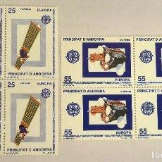 Sellos: SELLOS ANDORRA ESPAÑOLA 1991. NUEVOS. BLOQUE DE CUATRO. EUROPA.. Lote 105982327
