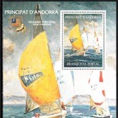 Sellos: BARCELONA 92 - HOJITA FRANQUICIA POSTAL PRINCIPAT D'ANDORRA OLIMPIADA BARCELONA 1992. Lote 107225539