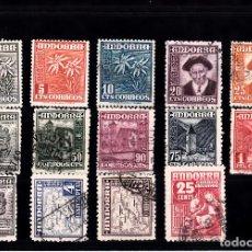 Sellos: ANDORRA ESPAÑOLA - TIPOS DIVERSOS 1948-1953 NUMS 45 A 58 USADOS. Lote 107793947