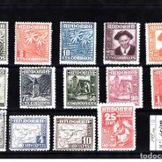 Sellos: ANDORRA ESPAÑOLA - TIPOS DIVERSOS 1948-1953 NUMS 45 A 58 NUEVOS SIN FIJASELLOS. Lote 107794295