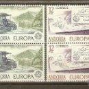 Sellos: ANDORRA ESPAÑOLA EDIFIL 125/26** NUEVOS SIN CHARNELA. BLOQUE DE CUATRO. 1979. EUROPA. Lote 109182531