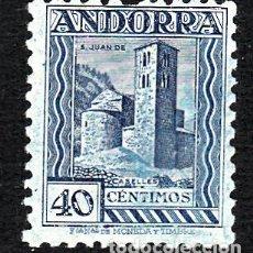 Sellos: ANDORRA - CORREO ESPAÑOL SELLO NUM. 37 40 CTMS AZUL NUEVO SIN SEÑAL DE FIJASELLOS -VER DENTADO SUP. Lote 109190755
