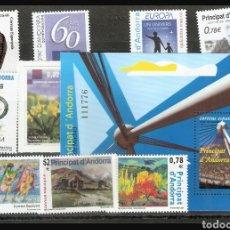 Sellos: AÑO 2009 COMPLETO Y NUEVO DE ANDORRA ESPAÑOLA. Lote 111662660