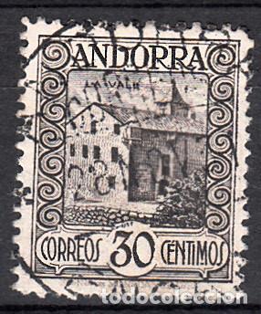 ANDORRA - CORREO ESPAÑOL 1929 30 CÉNTIMOS SERIE PAISAJES NUM . 21 USADO (Sellos - España - Dependencias Postales - Andorra Española)