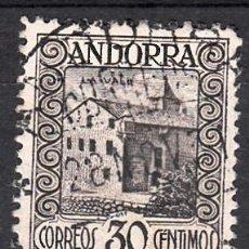 Sellos: ANDORRA - CORREO ESPAÑOL 1929 30 CÉNTIMOS SERIE PAISAJES NUM . 21 USADO . Lote 112633183