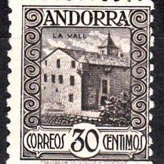 Sellos: ANDORRA - CORREO ESPAÑOL 1929 30 CÉNTS PAISAJES NUM . 21A DENT 11,5X11 CON GOMA Y SEÑAL FIJASELL. Lote 112635519