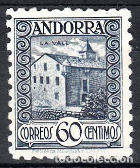 ANDORRA - CORREO ESPAÑOL 60 CENTIMOS DENTADO 10 NUM. 40 D NUEVO SIN GOMA (Sellos - España - Dependencias Postales - Andorra Española)