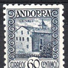 Sellos: ANDORRA - CORREO ESPAÑOL 60 CENTIMOS DENTADO 10 NUM. 40 D NUEVO SIN GOMA. Lote 112637299