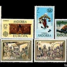 Sellos: AÑO 1976 COMPLETO Y NUEVO DE ANDORRA ESPAÑOLA. Lote 113647728