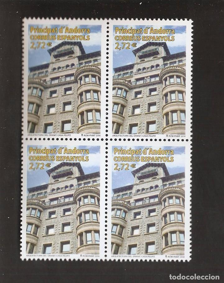 SELLOS ANDORRA AÑO 2014 BLOQUE DE 4 SELLOS LOS DE LA FOTO. VER TODOS MIS SELLOS NUEVOS Y USADOS (Sellos - España - Dependencias Postales - Andorra Española)