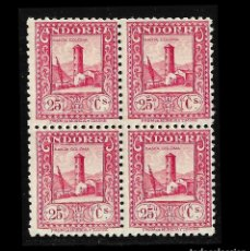 Sellos: SELLOS. ESPAÑA. ANDORRA. CORREO ESPAÑOL. 1929. PAISAJES DE ANDORRA. Nº 20 . 25 C. ROSA. BLOQUE DE. Lote 118099331