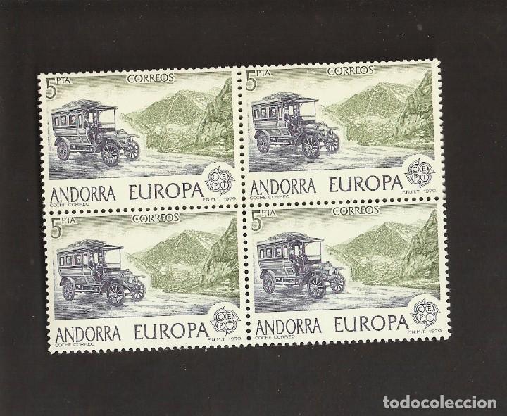 BLOQUE DE 4 SELLOS ANDORRA ESPAÑOLA AÑO 1979 LOS DE LA FOTO. VER TODOS MIS SELLOS NUEVOS Y USADOS (Sellos - España - Dependencias Postales - Andorra Española)