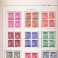 Sellos: ANDORRA ESPAÑOLA AÑO 1982 COMPLETO EN BLOQUE DE 4 NUEVOS LOS DE LA FOTO. VER TODOS MIS SELLOS . Lote 120416931