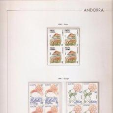 Sellos: ANDORRA ESPAÑOLA AÑO 1986 COMPLETO EN BLOQUE DE 4 NUEVOS LOS DE LAS FOTOS. VER TODOS MIS SELLOS. Lote 120495967