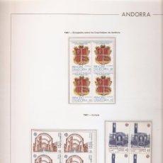 Sellos: ANDORRA ESPAÑOLA AÑO 1987 COMPLETO EN BLOQUE DE 4 NUEVOS LOS DE LAS FOTOS. VER TODOS MIS SELLOS. Lote 120496423