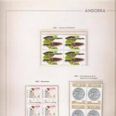 Sellos: ANDORRA ESPAÑOLA AÑO 1988 COMPLETO EN BLOQUE DE 4 NUEVOS LOS DE LAS FOTOS. VER TODOS MIS SELLOS. Lote 120497087