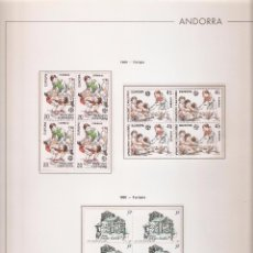 Sellos: ANDORRA ESPAÑOLA AÑO 1989 COMPLETO EN BLOQUE DE 4 NUEVOS LOS DE LAS FOTOS. VER TODOS MIS SELLOS. Lote 120497455