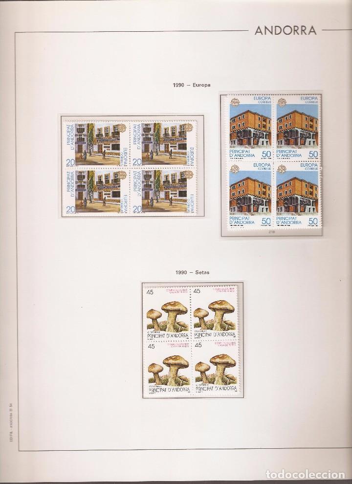 ANDORRA ESPAÑOLA AÑO 1990 COMPLETO EN BLOQUE DE 4 NUEVOS LOS DE LAS FOTOS. VER TODOS MIS SELLOS (Sellos - España - Dependencias Postales - Andorra Española)