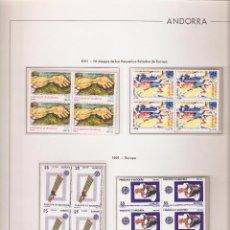 Sellos: ANDORRA ESPAÑOLA AÑO 1991 COMPLETO EN BLOQUE DE 4 NUEVOS LOS DE LAS FOTOS. VER TODOS MIS SELLOS. Lote 236921430
