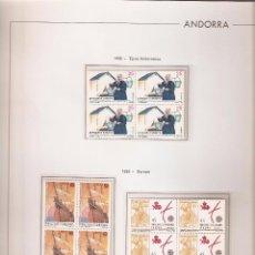 Sellos: ANDORRA ESPAÑOLA AÑO 1992 COMPLETO EN BLOQUE DE 4 NUEVOS LOS DE LAS FOTOS. VER TODOS MIS SELLOS. Lote 120508919