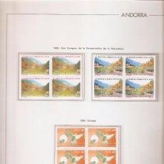 Sellos: ANDORRA ESPAÑOLA AÑO 1995 COMPLETO EN BLOQUE DE 4 NUEVOS LOS DE LAS FOTOS. VER TODOS MIS SELLOS. Lote 120511379