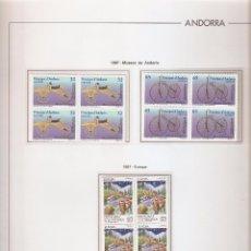 Sellos: ANDORRA ESPAÑOLA AÑO 1997 COMPLETO EN BLOQUE DE 4 NUEVOS LOS DE LAS FOTOS. VER TODOS MIS SELLOS. Lote 120512091