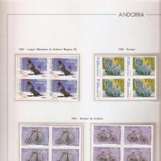 Sellos: ANDORRA ESPAÑOLA AÑO 1998 COMPLETO EN BLOQUE DE 4 NUEVOS LOS DE LAS FOTOS. VER TODOS MIS SELLOS. Lote 120512859