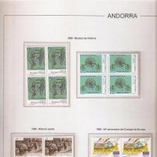 Sellos: ANDORRA ESPAÑOLA AÑO 1999 COMPLETO EN BLOQUE DE 4 NUEVOS LOS DE LAS FOTOS. VER TODOS MIS SELLOS. Lote 120513831