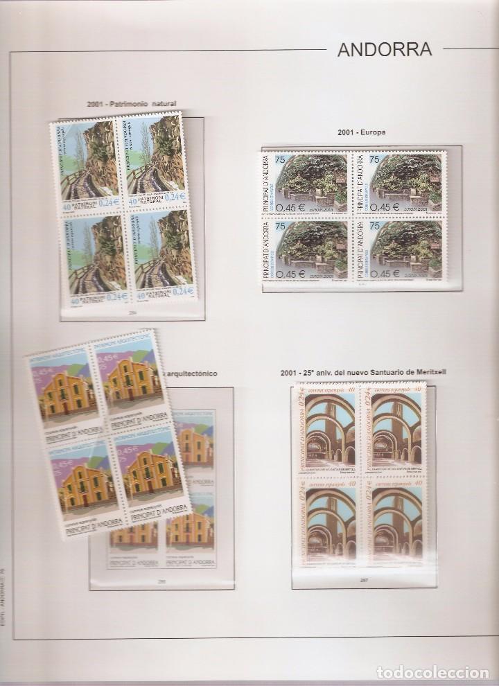 ANDORRA ESPAÑOLA AÑO 2001 COMPLETO EN BLOQUE DE 4 NUEVOS LOS DE LAS FOTOS. VER TODOS MIS SELLOS (Sellos - España - Dependencias Postales - Andorra Española)