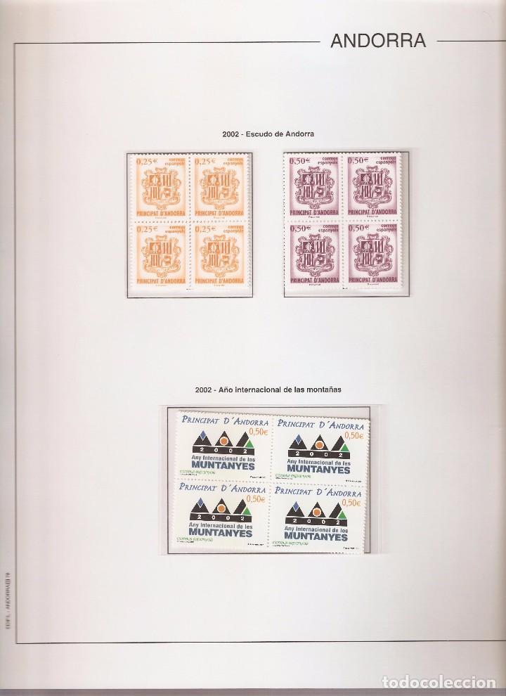 ANDORRA ESPAÑOLA AÑO 2002 COMPLETO EN BLOQUE DE 4 NUEVOS LOS DE LAS FOTOS. VER TODOS MIS SELLOS (Sellos - España - Dependencias Postales - Andorra Española)