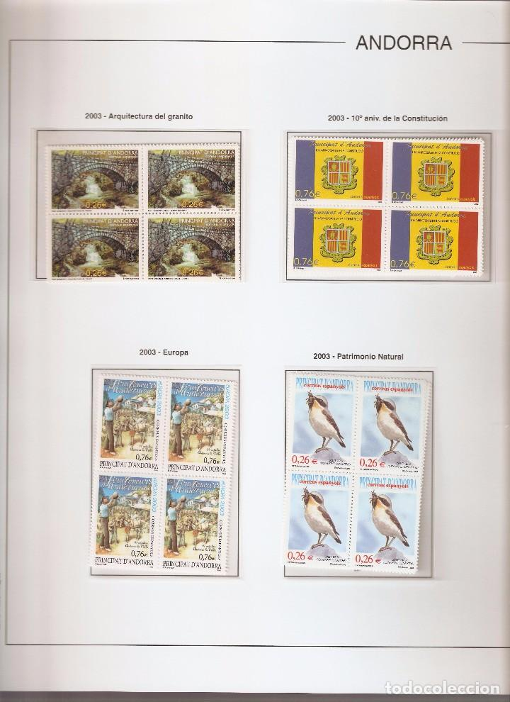 ANDORRA ESPAÑOLA AÑO 2003 COMPLETO EN BLOQUE DE 4 NUEVOS LOS DE LAS FOTOS. VER TODOS MIS SELLOS (Sellos - España - Dependencias Postales - Andorra Española)