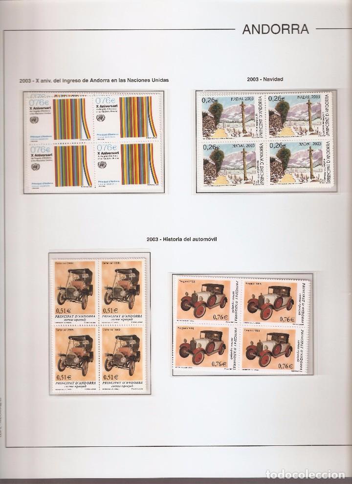 Sellos: ANDORRA ESPAÑOLA AÑO 2003 COMPLETO EN BLOQUE DE 4 NUEVOS LOS DE LAS FOTOS. VER TODOS MIS SELLOS - Foto 2 - 120517463