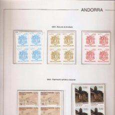 Sellos: ANDORRA ESPAÑOLA AÑO 2004 COMPLETO EN BLOQUE DE 4 NUEVOS LOS DE LAS FOTOS. VER TODOS MIS SELLOS. Lote 120518431