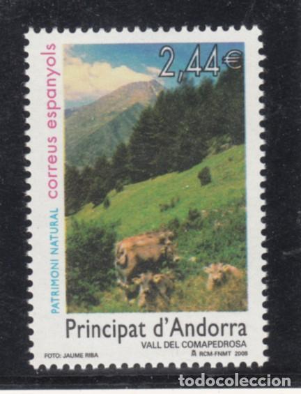 .ANDORRA ESPAÑOLA 359 SIN CHARNELA, FAUNA, PATRIMONIO NATURAL, VALLES DEL COMAPEDROSA (Sellos - España - Dependencias Postales - Andorra Española)