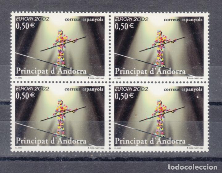 .ANDORRA ESPAÑOLA 295 EN B4 SIN CHARNELA, TEMA EUROPA, EL CIRCO, FUNAMBULO, (Sellos - España - Dependencias Postales - Andorra Española)