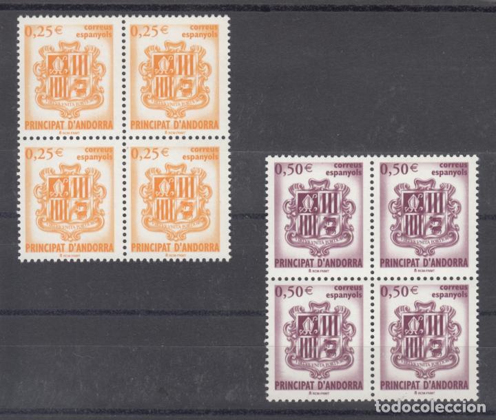 .ANDORRA ESPAÑOLA 290/1 EN B4 SIN CHARNELA, ESCUDO DE ANDORRA, (Sellos - España - Dependencias Postales - Andorra Española)