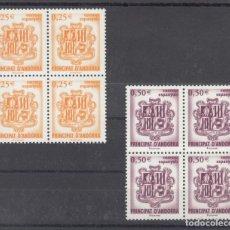 Sellos: .ANDORRA ESPAÑOLA 290/1 EN B4 SIN CHARNELA, ESCUDO DE ANDORRA,. Lote 120683743